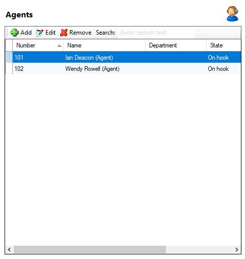 Agents window