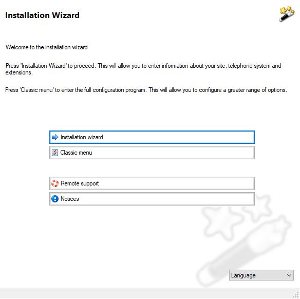Installation Wizard