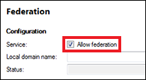 Tick the Allow federation box