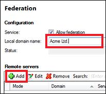 Enter local domain name