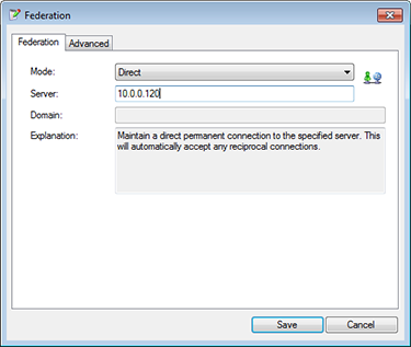Set mode and remote IP address
